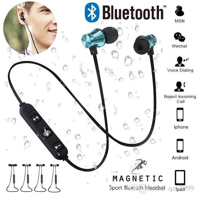 Atração universal magnética pendurado no pescoço bluetooth fone de ouvido fone de ouvido à prova d 'água esportes 4.2 com cabo de carregamento fone de ouvido para iphone samsung
