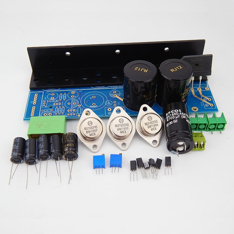 Freeshipping class A AMP of 4pcs MJ15025 2pcs MJ15024 HD1969 power amplifier DIY kits Completed board with heat sink