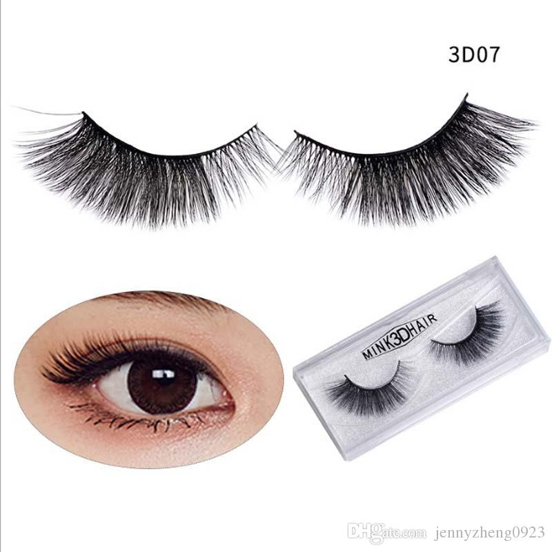 10Pairs Glitter Box Daily Personal Mink Layered False Eyelashes 3D Natural Cross Dense Reusable Fake Lashes #3DM15 Free shipping