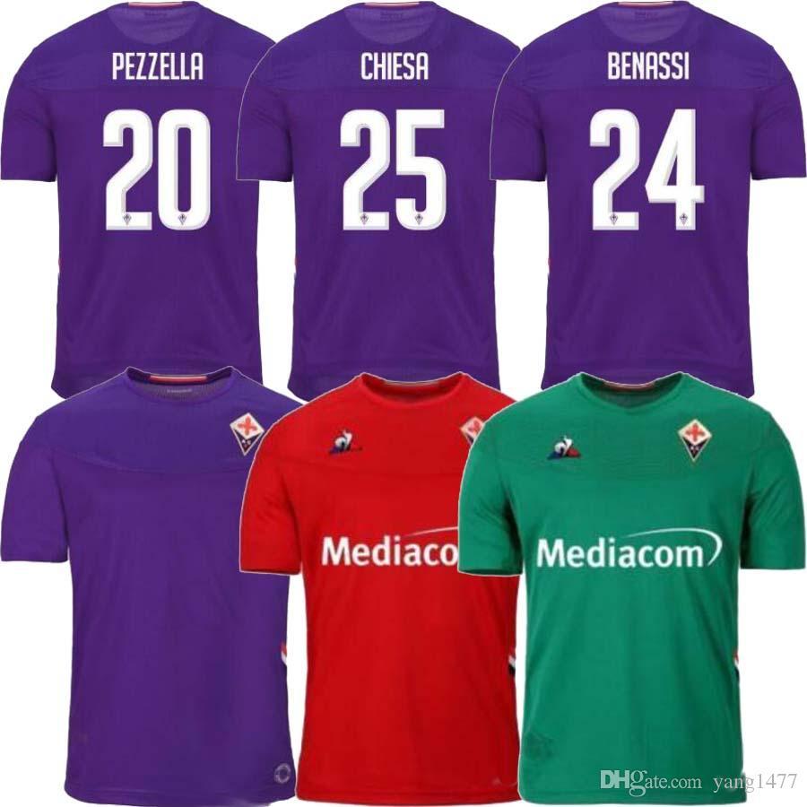 Acquista 2019 2020 Nuovo ACF Fiorentina Firenze Calcio Maglia Maglia Da Calcio 19 20 RIBERY Chiesa Prince Boateng Camiseta De Futbol Milenkovic Maglia ...