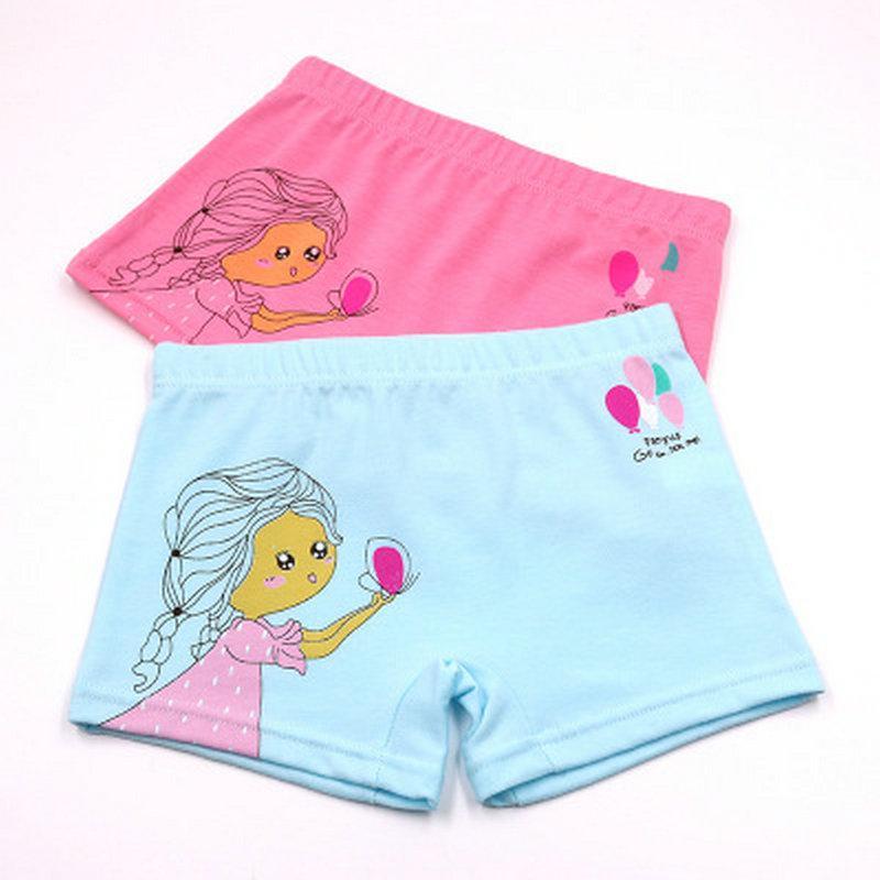 Sous-vêtements de coton pour fille litière enfants Boxer Vente Cartoon Meilleur Slip Da Boxer Grand Paquet icudA