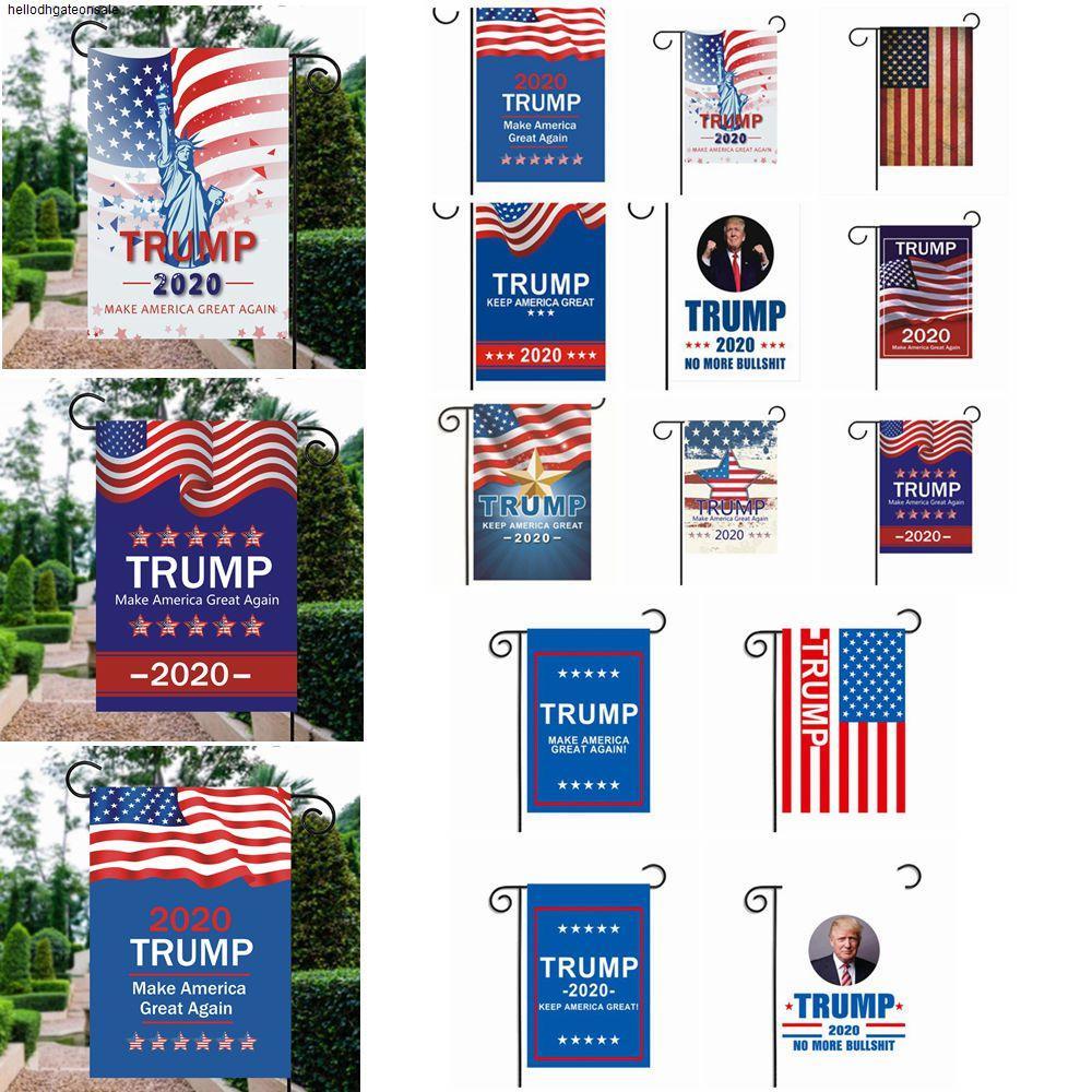 per bandiera TRUMP giardino 13styles USA selezione 30 * 45cm 2020 di supporto presidente decorazione esterna favore di partito puntelli banner FFA4017