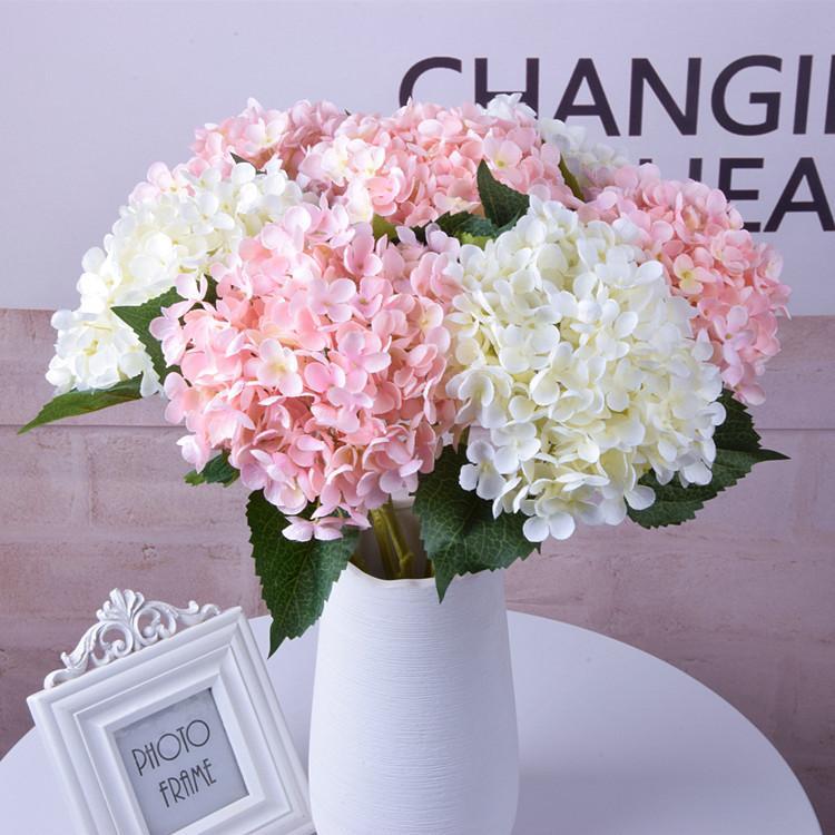 Artificial Flowers 1PC Hydrangea Bouquet for Home Decoration Flower Arrangements Wedding Party Decor DLH131