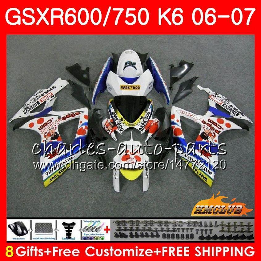 鈴木GSX R600 GSX R750 GSXR600 2006 2007 8HC.36 GSX-R600 GSXR-750 K6 GSXR 600 750 06-07 GSXR750 06 07フェアリングキット