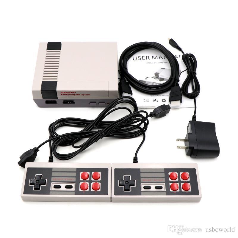 1080 وعاء coolbaby البسيطة تلفزيون فيديو المحمولة المحمولة لعبة وحدة 600 ألعاب لاعب 8 بت الترفيه ل NES الكلاسيكية الحنين المضيف مربع صغير
