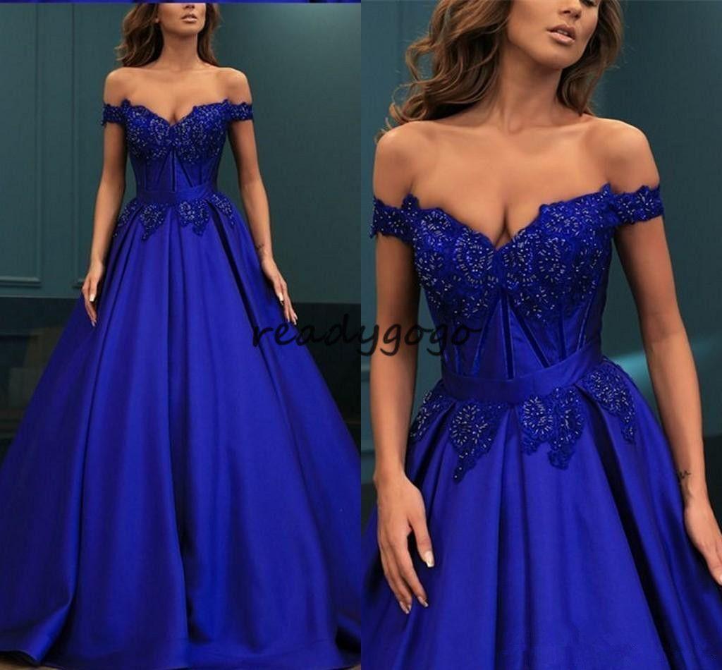 Glitter Perlen Abendkleider Schulterfrei Kurzarm Applique Drapiert Open Back A-Linie Kleider Abendmode Formelle Kleider Elegant