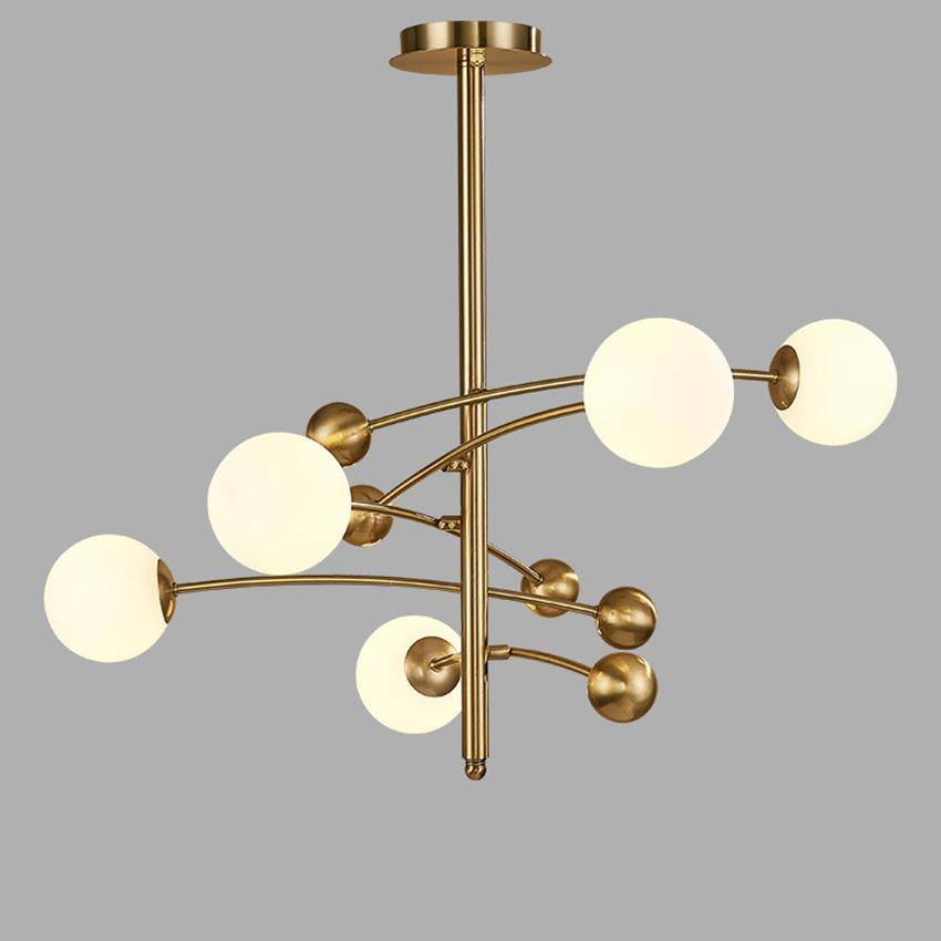 Nordic einfache magische Bohne Kronleuchter postmodern 5 Lichter Esszimmer Schlafzimmer Glas-Kronleuchter Restaurant industrielle Leuchte