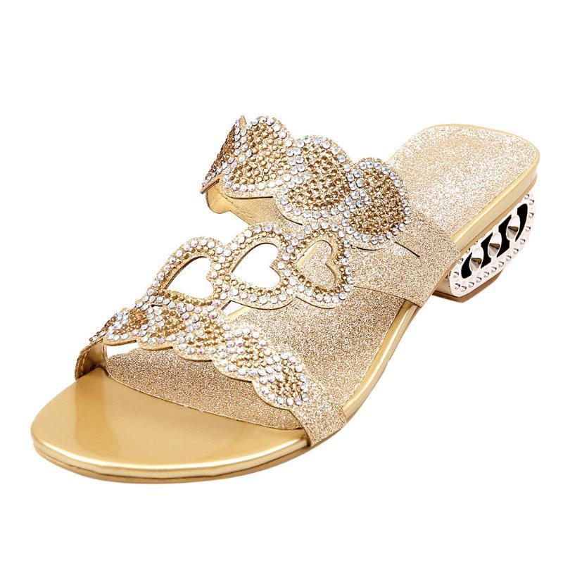Kadın Yaz 2020 Açık Toe Yüksek topuk ayakkabı Açık Elbise Sandalet Kadın Balık Güve Casual Dayanıklı Lady Terlik Cartera Mujer
