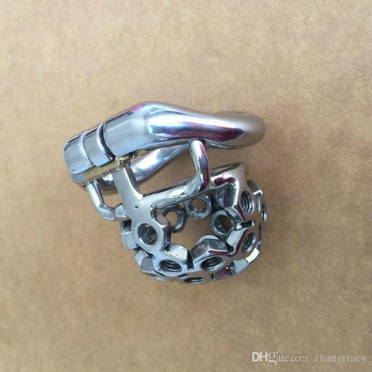 2019 пружинное кольцо из нержавеющей стали маленький мужской целомудрие устройства 38 мм, 41 мм, 51 мм, 57 мм петух клетка с шипами винт секс игрушки для мужчин