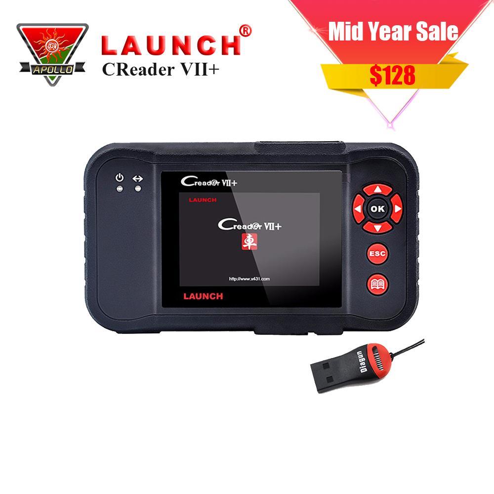 LAUNCH X431 Code Reader VII+ Creader 7+ OBDII Auto Code Scanner OBD2 Diagnostic Scanner Tools Free shipment