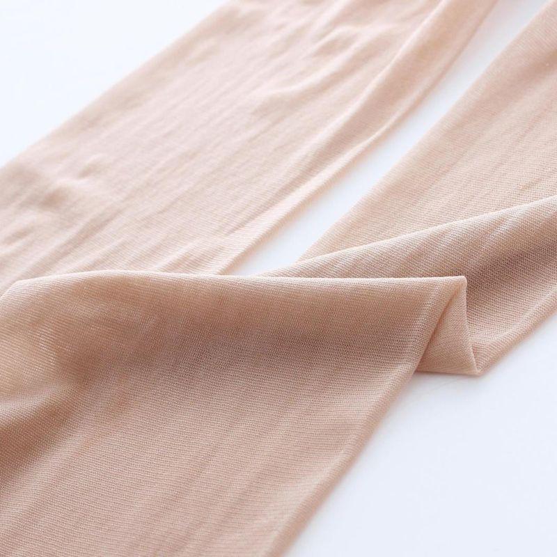 Summer New Children Girls Stockings Sheer Silk Ballet Stockings Transparent Pantyhose Candy Color white flesh for kids Toddler