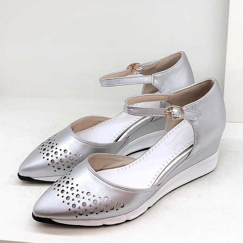 DORATASIA New Arrival Verão Conforto Cunhas Sandals diário Casual Elegante Shallow lll Sandals Mulheres Luz Pointed Toe Calçados Mulher