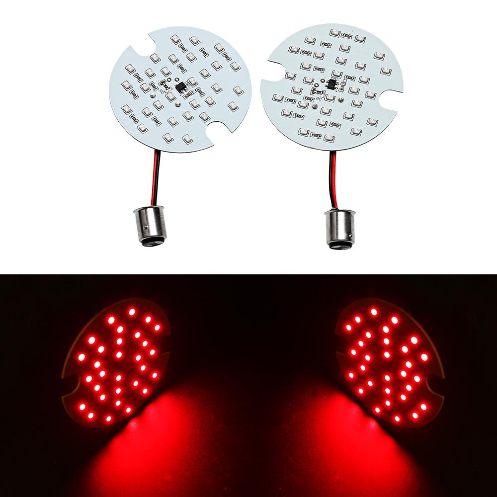 Freeshipping Motorcycle 1 coppia / 2 PCS Bulb rosso per Harley Touring 1157 LED Daytime Turn Signal Light Panel DRL BAY15d