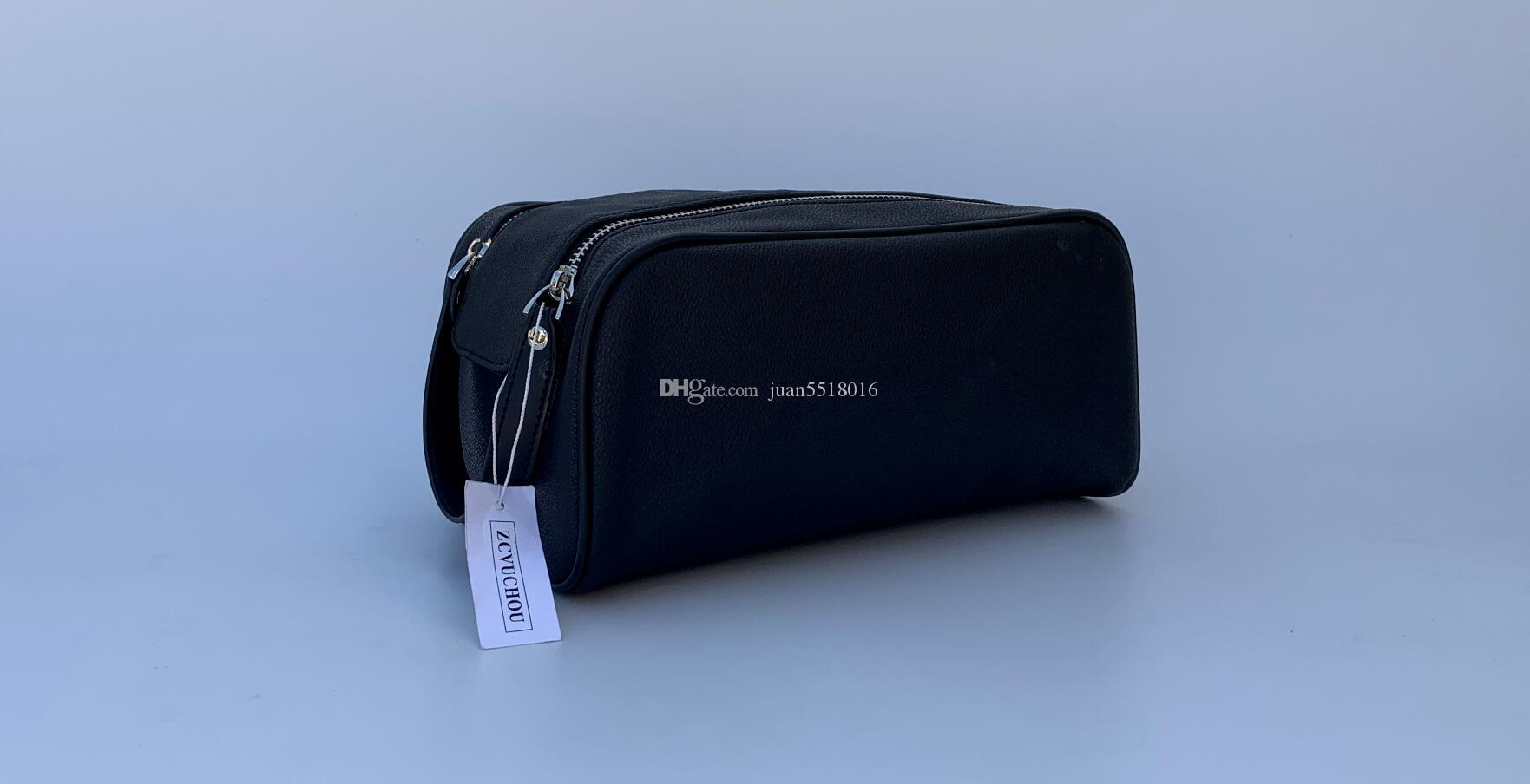 2019 High-end quality men 26CM travelling toilet bag fashion design women wash bag large capacity cosmetic bags makeup toiletry bag Pouch