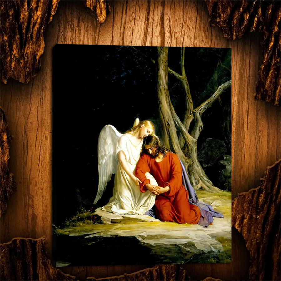 2020 Jesus In The Garden Of Gethsemane Hd Canvas Printing New