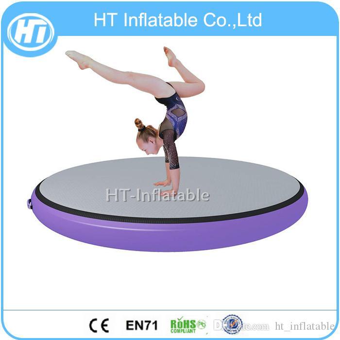 Kostenloser Versand Inflatable Round Air Track Tumbling Airspot Mat Fitness-Trainingsgeräte Kreis Air Spot Gymnastik