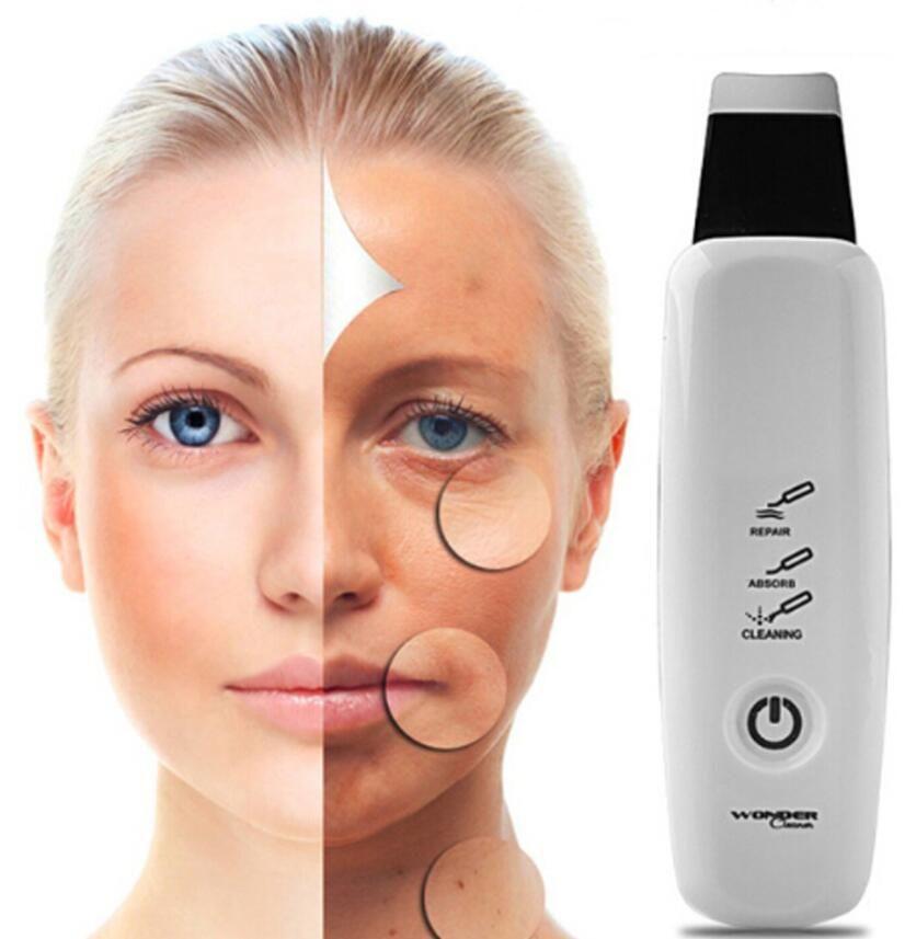 Macchina di pulizia facciale del massaggiatore di cura di bellezza di rimozione dell'acne di comedone del dispositivo di pulizia del poro ultrasonico del pulitore del fronte