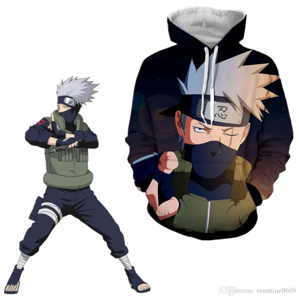 Hokage Naruto0 Hatake Kakashi Hoodie Sweatshirt Zip Jacket Coat Cosplay Costume