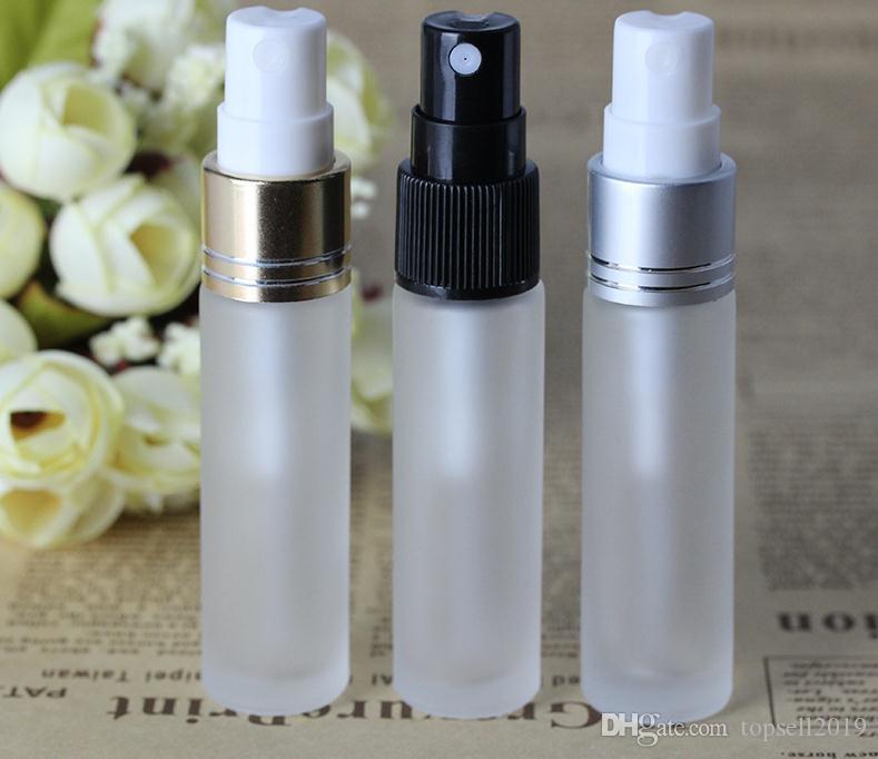 Flacons échantillons de parfum en verre dépoli de qualité supérieure avec 10 ml d'atomiseur 3 couleurs 10 ml