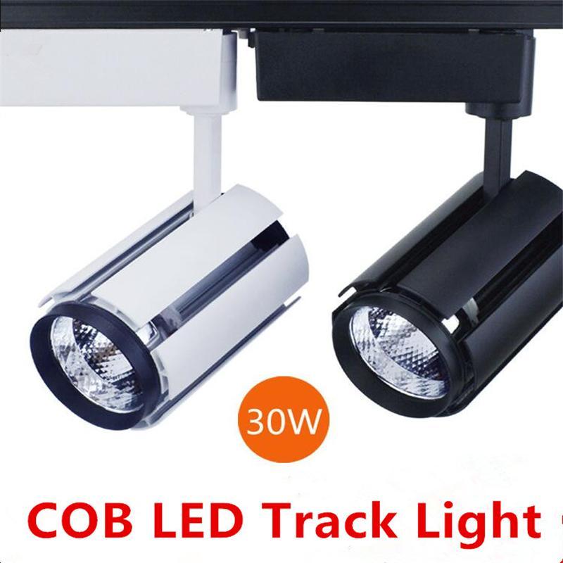 30W COB LED Spot traccia luce 110V - 220V Casa moderna del soffitto deco.with fixutre ferroviario per il panno galleria negozio di arte 12pcs DHL