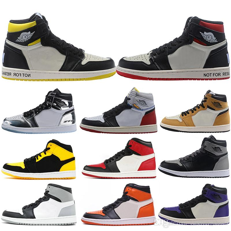 2019 Newst Union x OG I Basketball Shoe 1s Rookie Of The Year Pine Green Barons Gold Bred Toe NRG No Ls Sneakers