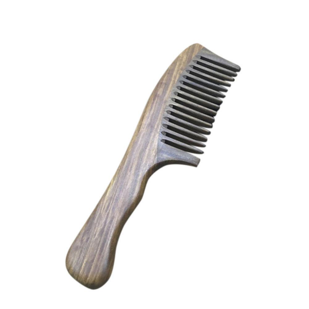 1Pc Wooden Sandalwood Wide Tooth Wood Comb Natural Head Massager Hair Combs Wooden Handle with Wide Toothed Comb