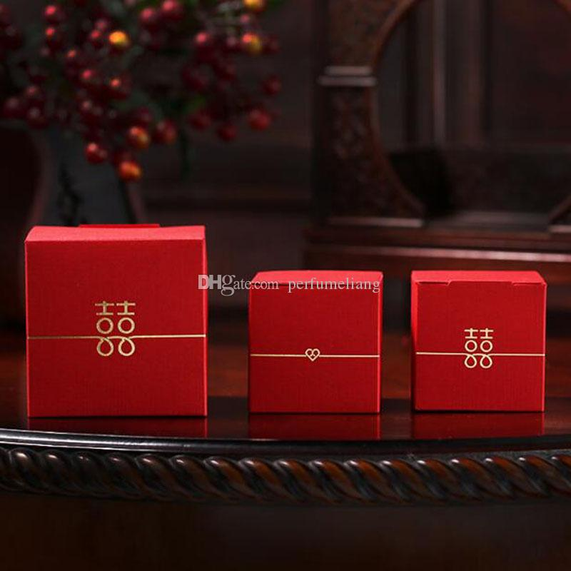 Double bonheur boîtes de bonbons boîtes-cadeaux boîte de cadeau de noce boîte Souvenir sucré Boîte d'emballage de chocolat Souvenir QW9973