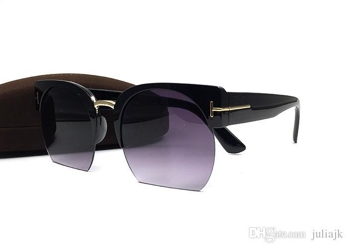 패션 브랜드 디자이너 톰 선글라스 고양이 눈 프레임 인기있는 스타일 간단한 품질 남자 여성 여름 스타일 야외 안티 UV 안경 상자