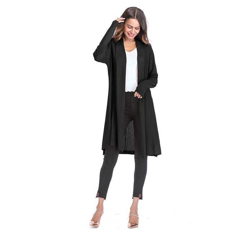 2019 새로운 여자는 겨울 의류 긴 코트 스웨터 조끼 여성 패션 섹시한 간단한 중공 니트 조끼 중년 여성 조끼