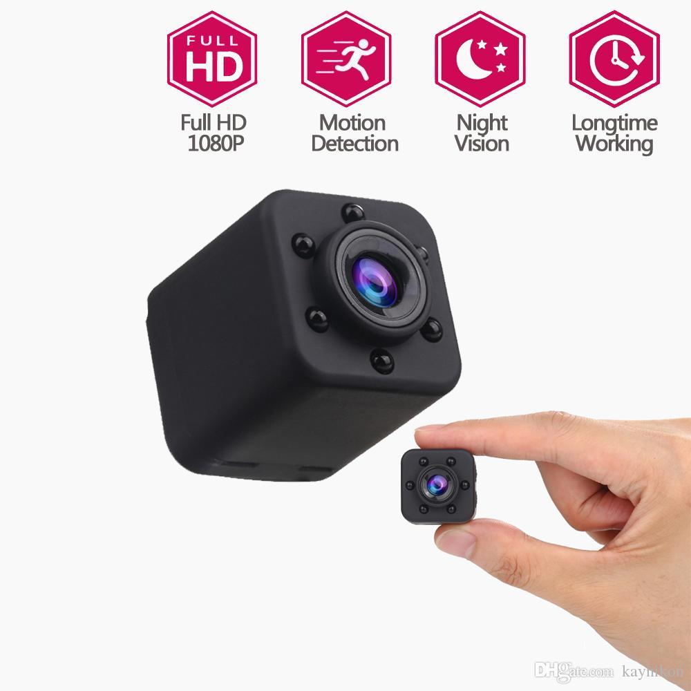 1080P HD mini cámara de la videocámara de la cámara espía niñera Web Cam Deportes mini DV grabadora de vídeo con visión nocturna y detección de movimiento para el hogar Secur