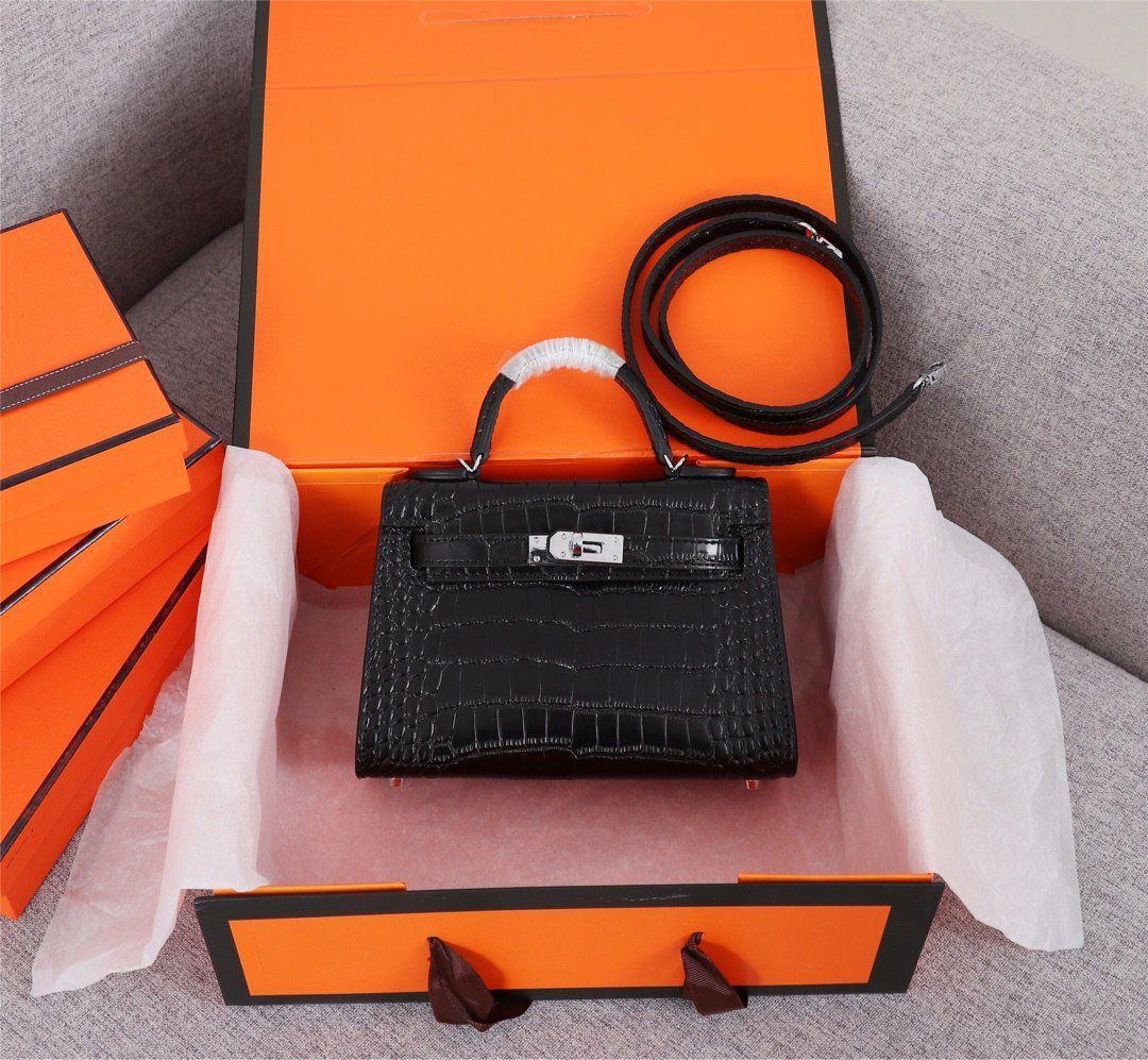 Классический женщин конструктора сумки на ремне сумки Стиль Мини ремешок Crossbody Tote кошелек высокого качества из натуральной кожи сумки картины крокодила