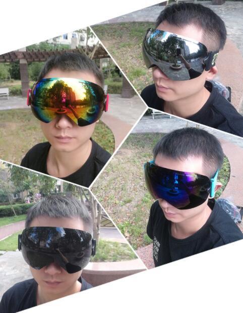 Top Grande esfera única camada anti nevoeiro cartão de óculos sem armação de esqui míope ski óculos exportar homens mulheres treinamento físico loja de yakuda