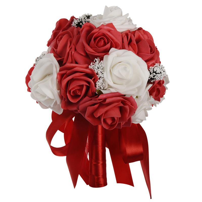 2020 Bridal Hand Bouquet Wedding Artificial Flowers Photography Props Decoration From Rosaling 16 62 Dhgate Com