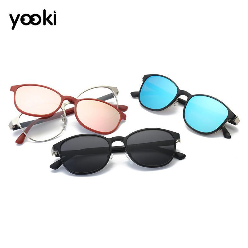 Для женщин мужские Magnetic Поляризованные Clip-на солнцезащитные очки Мода Оправы для очков TR