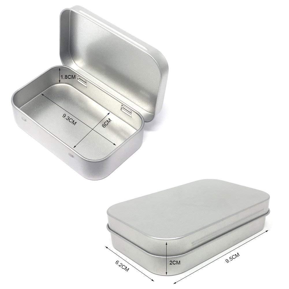 Metal Dikdörtgen 3.75 2,45 ile 24pcs menteşeli Teneke Kutu Konteynerleri Mini Taşınabilir Kutu Küçük Depolama Kiti Ev Organizer boşaltın / 011 set
