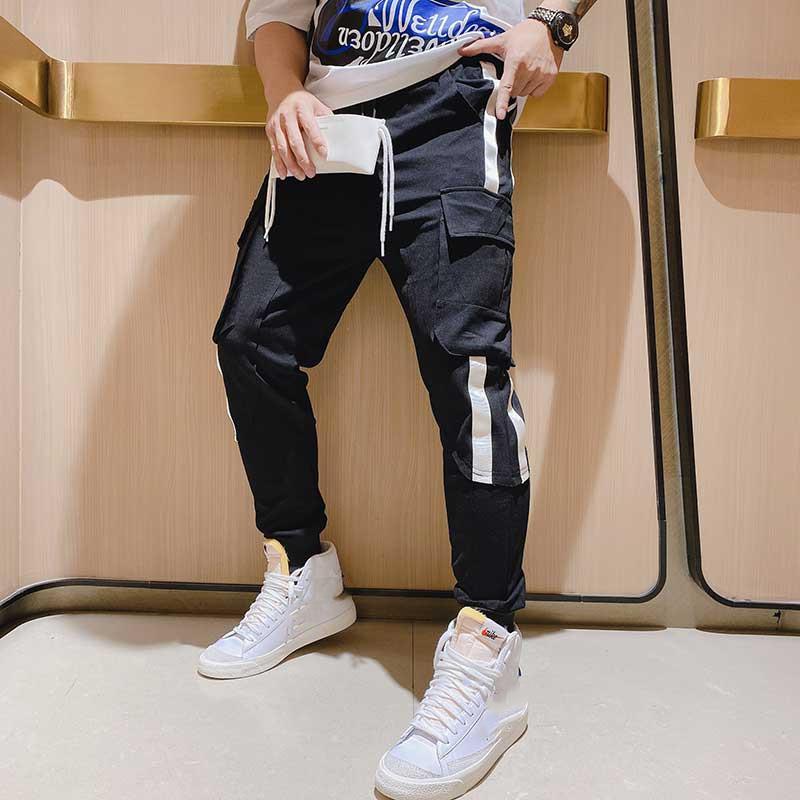 QA0210 Fashion Men's Pants 2020 Runway European Design party style Men's Clothing