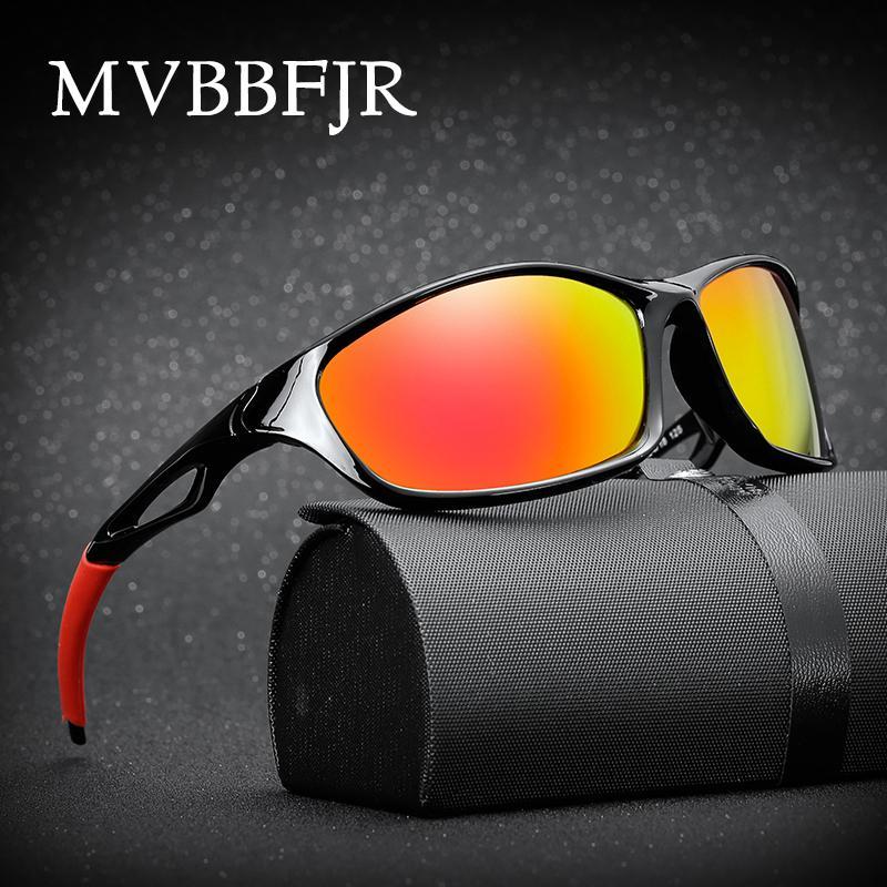 MVBBFJR Polarizada Homens Anti Glare Óculos Desporto Óculos de condução Mulheres Espelho Óculos de sol Óculos de UV400 Designer