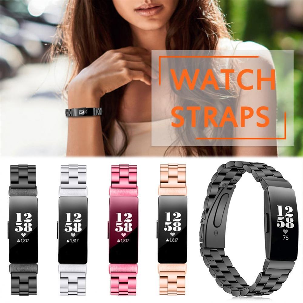 스테인레스 스틸 금속 손목 스트랩 Fitbit 영감 HR 시계 교체 밴드 팔찌 Fitbit 영감 액세서리