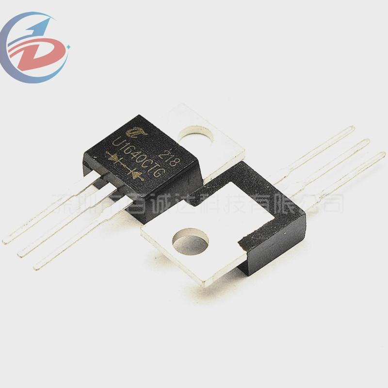100Pcs/Pack MUR1640CTG Fast / Ultrafast Diode 400V 16A Dual Common Cathode 1.3V 60ns 100A