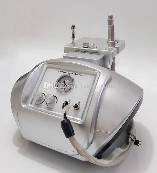 Poudre de puissance professionnelle Poudre de cristaux Microdermabrasion Cristal et Diamond Dermabrasion Skin Peeling 2 en 1 Machine faciale Soins de la peau