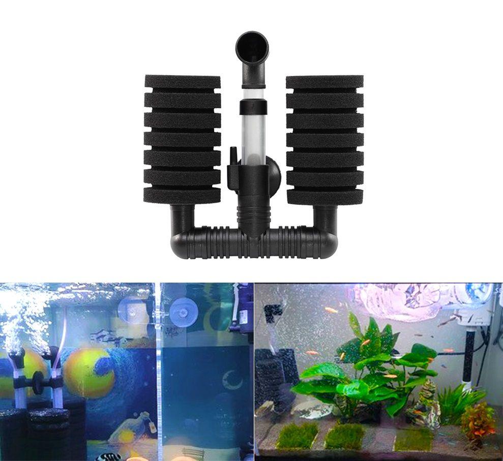 Aquarium Filter Fish Tank Shrimp Pond Air Pump Biochemical Sponge Filter 2 Heads High quality