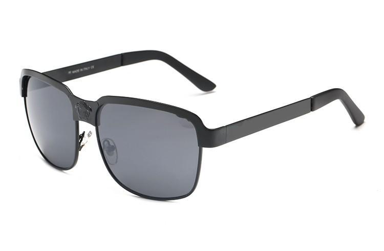 2020 Роскошный новый Марка поляризованные очки Мужчины Женщины Пилотные Солнцезащитные очки UV400 очки Баны 3016 очки металлический каркас Polaroid объектив 8039