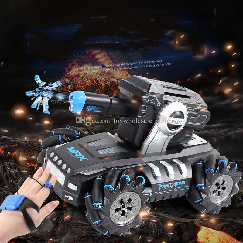 4 Farben Junge Spielzeug Drift Tank Starten Wasser Bomben RC Drift Angriff Off-Road Auto Induktion Dual-Mode Fernbedienung Kinderspielzeug M1702