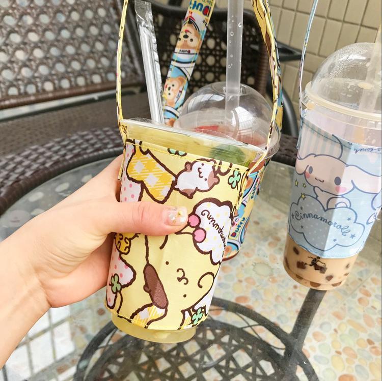 IVYYE White Dog Doraemon Mode Sacs Portable Déjeuner Cartoon sac tasse de bouteille d'eau Tote Réchauffez de stockage Femmes Filles Nouveau