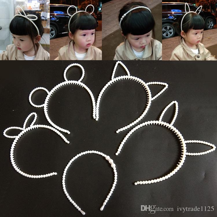 Жемчужная буровая Детская Прическа Hairpillar Hoop Корейский Принцессы Ручной Tribed Отделка для волос ребенка