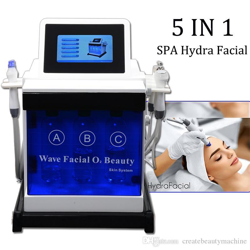 Hydra facial machine eau Peeling cristal de diamant microdermabrasion RF aiguille peau rajeunissement microcourant facial machine de spa