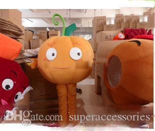 2019 Discount factory sale plush pumpkin carnival costumes mascot costumes adult size free shipping
