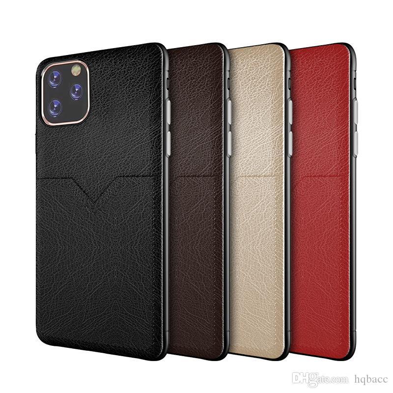 جديد قضية جلد فاخرة للفون برو 11 XR XS MAX X 6 7 8 فتحات بالإضافة إلى خلية بطاقة الهاتف حالة الائتمان لسامسونج S8 S9 S10 زائد ملاحظة 8 9