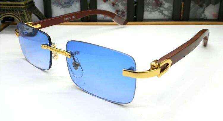 2020 베스트 셀러 패션 남성 스포츠 상자 세련된 복고풍 색 사각형 선글라스 남성의 유리 나무 물소 뿔 안경을 조종