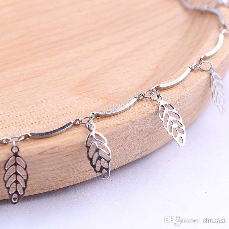 Shukaki wholesale 2 meters stainless steel feather rosary chains for jewelry making diy necklace bracelets making accesories